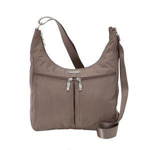 Baggallini Harmony Hobo Purse Bag Tote Brown Taupe